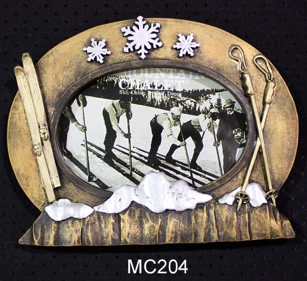 MC204 - VINTAGE SKI PHOTO FRAME